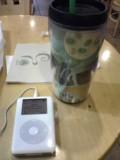 iPodを連れて昼休み