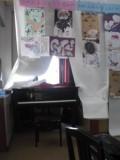 お子達の絵と、その背後に隠されていたピアノ